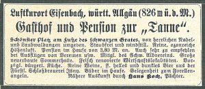 So warb Hans Koch in den Blättern des Schwäbischen Albereins 1909