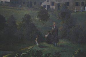 Gemälde im Saal: Die Betrachter
