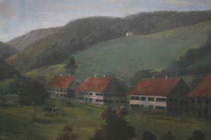 Gemälde im Saal: Haus Tanne